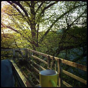 A Summer Day on the Balcony - photo Kara Johnstad