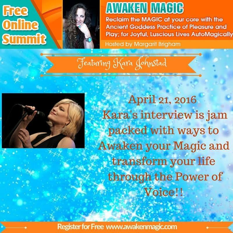 Voice Visionary Kara Johnstad talks at Awaken Magic Summit on the power of voice.