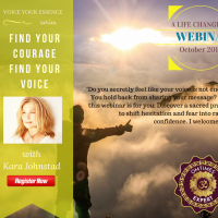 WEBINAR – Find Your Courage, Find Your Voice