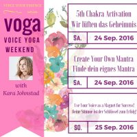 VOGA – Voice Yoga Workshop Sep 24 – 25, 2016