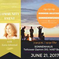 Summer Solstice / Fest zur Sonnenwende – FREE COMMUNITY EVENT, June 21